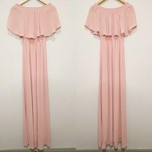 Show Me Your Mumu Pink Hacienda Maxi Dress Ruffle